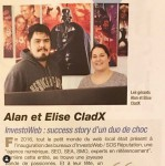 Cladx : Investoweb : Success story d'un duo de choc - photo 1